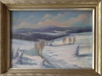 Ladislav J. Spitnik - Mountain winter landscape wi